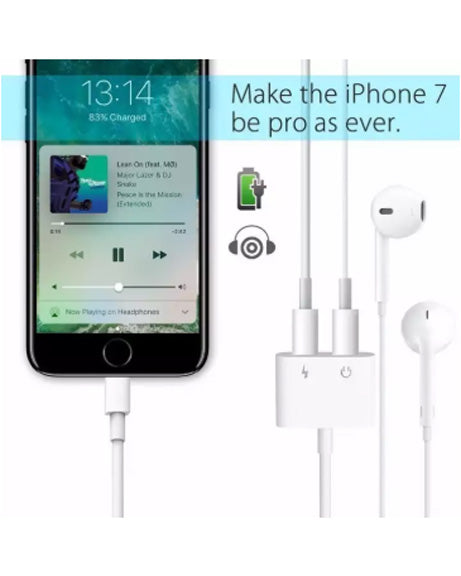 Auswaur Updated Version Support IOS 12 and Compatible iPhone XS MAX XR Headphone Adapter Charging and Music Earphone Audio Adaptor for iPhone X/10/7/7Plus/8/8Plus Support for Call Function Music Control and Charger,Compatible with iOS 10.3/11/12