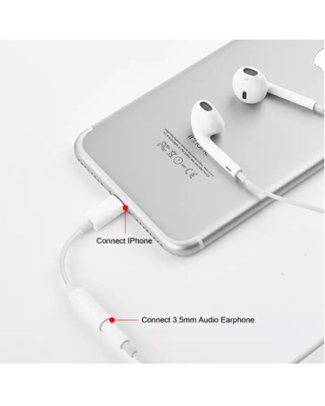 Bluetooth Lightning 8pin to 3.5mm Earphone Jack Cable Adapter for iPhone X/8/8 Plus/7/7 Plus