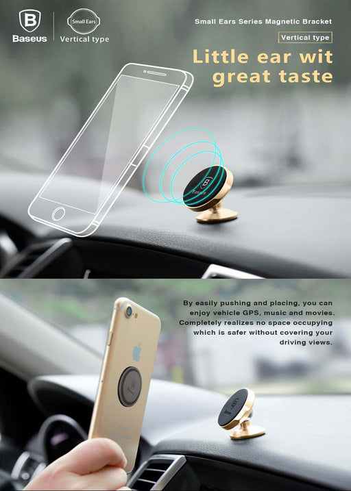 ReadyStock Singapore BASEUS Universal Magnetic Car Mount Cell Phone Holder (Vertical Type)