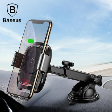 Ready Stock Singapore Baseus Qi Car Wireless Charger Fast Wireless Charging Car Phone Holder