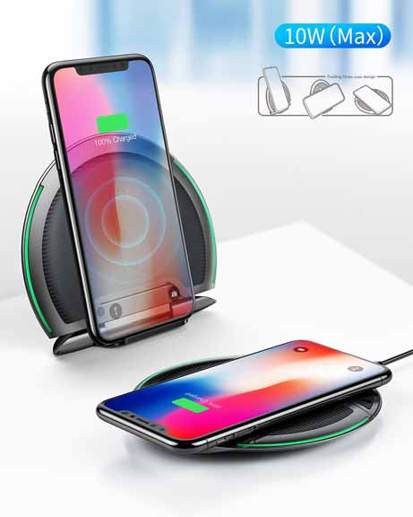 Baseus 3in1 Foldable Qi Wireless Charger for iPhone 8/X Multifunction Fast Wireless Charging