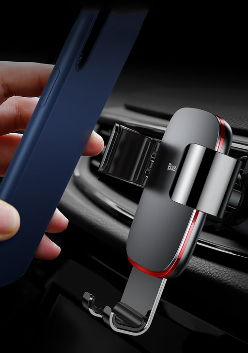ReadyStock Singapore Baseus Universal Car Air Vent Mount Aluminum Clamp Phone Gravity Holder Stand