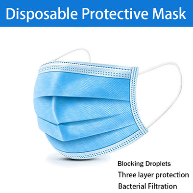 New Disposable respirator 3-layer cloth for adult protection