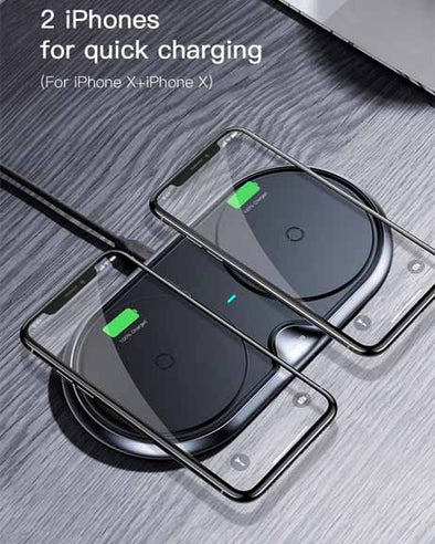 Baseus Dual Wireless Charger iPhone X S9 S8 Plus Note 8 XIAOMI HUAWEI VIVO OPPO