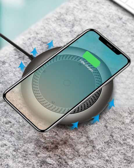 Baseus Whirlwind Desktop Wireless Charger 10W for Samsung Note 8 S9 S8 iPhone 8 8+ X Black