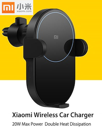 Xiaomi Wireless Car Charger 20W Max Electric Auto Pinch 2.5D Glass Ring Lit Charging for Xiaomi Mi Smartphone
