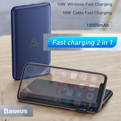 Baseus S10 Bracket 10W Wireless Charger Power bank 10000mAh 18W