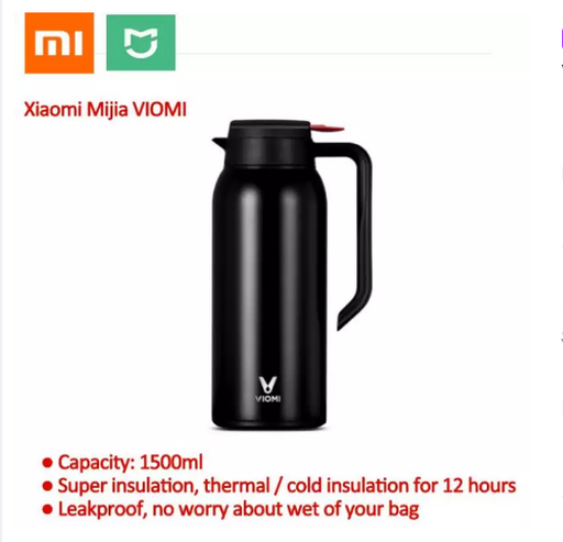 Xiaomi Mijia VIOMI Stainless Steel Vacuum Flask Portable 1.5 L Kettle