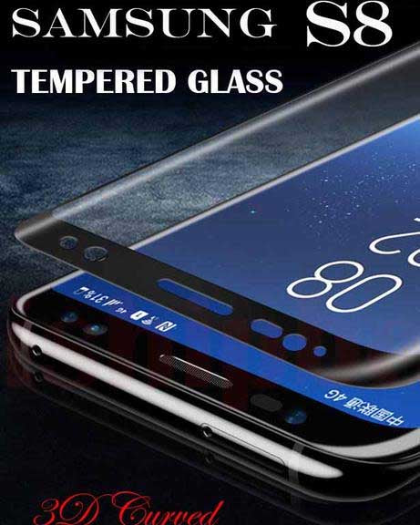 Tempered Glass 3D Curved For Samsung Galaxy S8