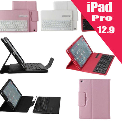 Leather Case Cover With Bluetooth Keyboard 12.9 Pro (2015)