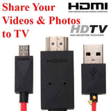 #E MHL to HDMI Cable adapter HDTV Samsung Galaxy S3 S4 S5 Note 2 3 Micro USB Display Smartphone to TV choice of 5 and 11 pins