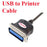 USB to Printer Cable