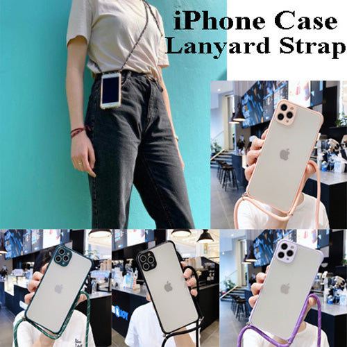 Shockproof iPhone Case With Sling Lanyard For iPhone11 11Pro Max X XS XR 7Plus 8Plus