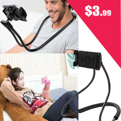 360 Rotating Flexible Long Arm Lazy Neck Hanging Bed Mobile Phone Mount Holder