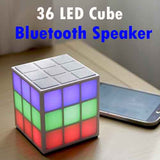 #Cube Bluetooth 4.0 Speaker with 36 Music-Syncing LED Lights