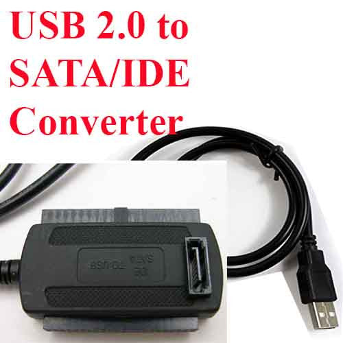USB 2.0 to SATA/IDE Adapter Cable