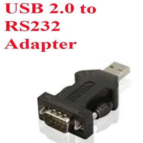 USB 2.0 to RS 232 Adapter with 0.5M Extension Cable