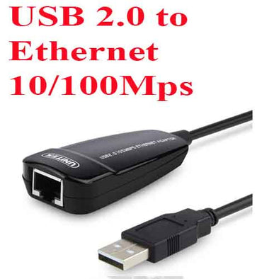USB 2.0 to Ethernet 10/100 Mps