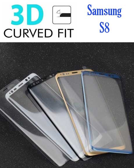 Tempered Glass 3D Curved Samsung Galaxy S8 Plus