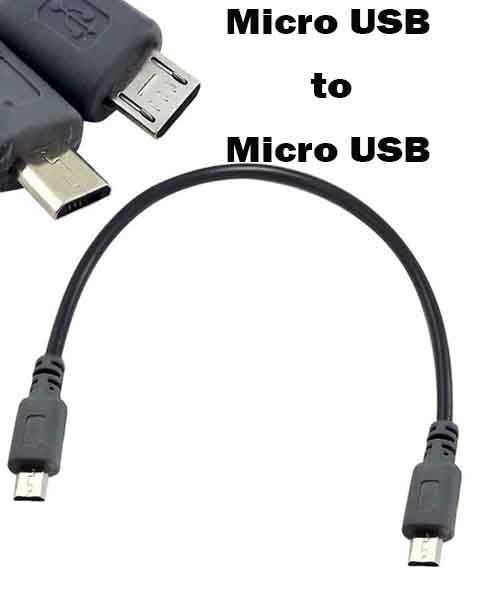 Micro USB Male to Mini 5-pin USB Male OTG