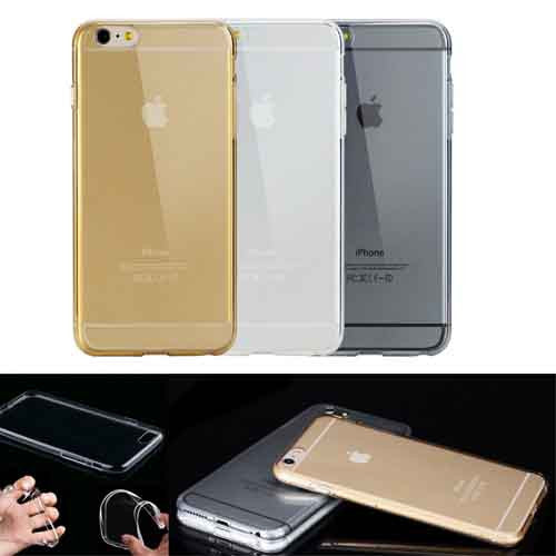 "Transparent Crystal Clear Soft TPU Case Skin Cover For iPhone 6 4.7"" Plus 5.5"""