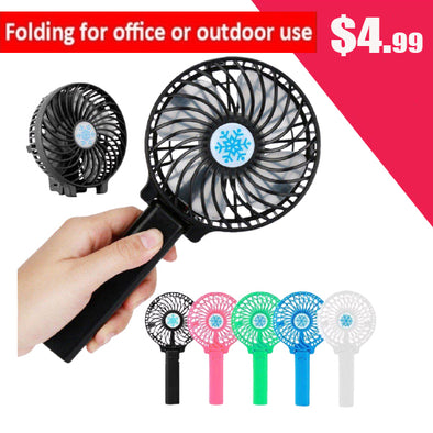New Cooler Mini Handheld Fan USB Charging Personal Desk Fans