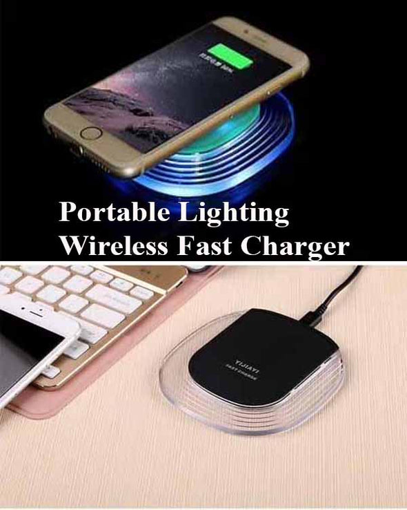 Portable Fast Wireless Charger with light