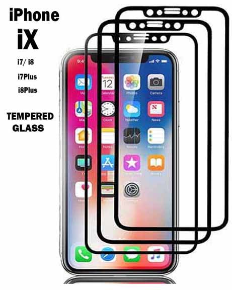 Tempered Glass Screen Protector for iPhone X iPhone 7/8 Plus