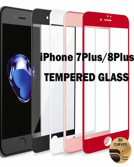 Tempered Glass Screen Protector for iPhone 7Plus 8Plus