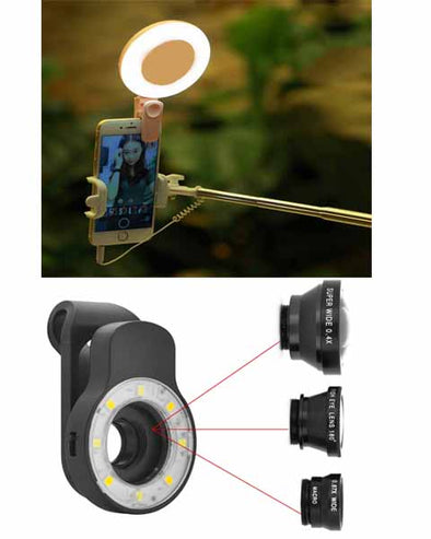 4 in 1 Universal Clip-On Selfie Light For Smartphone/Tab/Iphone/Ipad