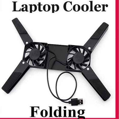Cooling Pad 2 Fans foldable Cooling Pad for Notebook Network
