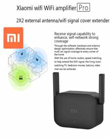 Xiaomi WiFi Extender Amplifier Pro 300Mbps with 2x2 External Antennas (Black)