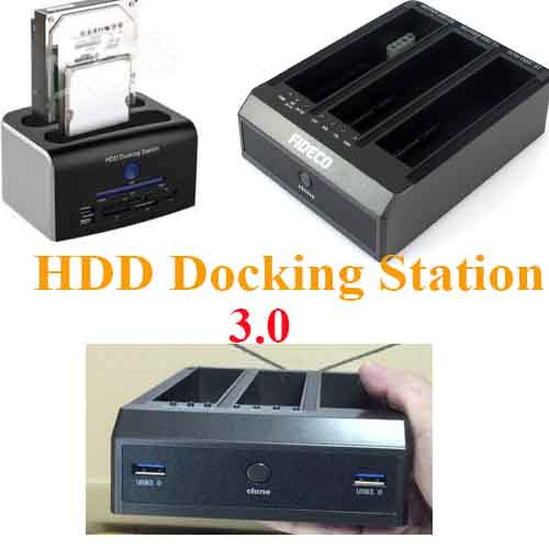 "USB 3.0 2.5"" & 3.5''  SATA 3 Bay Hard Drive HDD Docking Station OTB/OTC"
