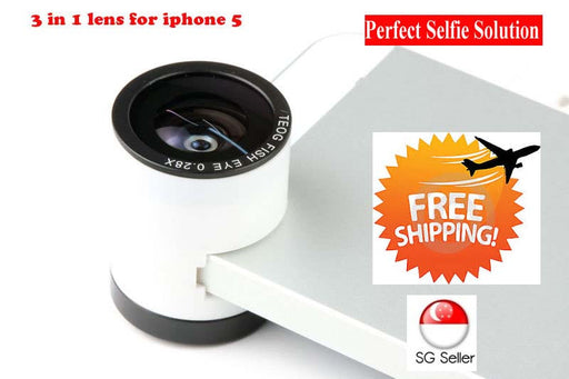 TEOG-FOR 3-in-1 Macro + Wide Angle + Fish Eye Lens for Iphone 5/iPhone 4
