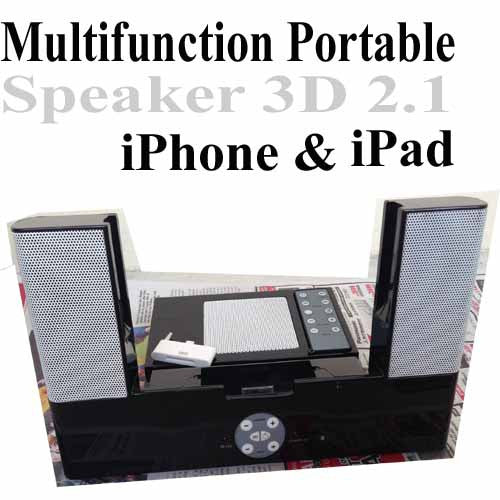 Multifunction Portable Speaker 3D 2.1