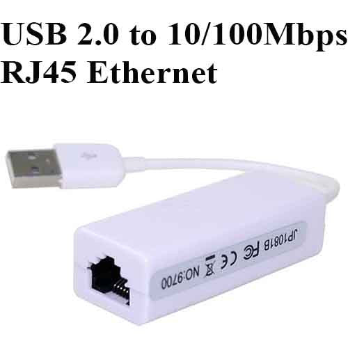 USB 2.0 to 10/100Mbps RJ45 Ethernet Network Adapter Convertor Cable Lead Wire