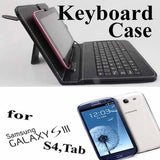 "#D 7 inch Leather Protective Case USB Keyboard For Galaxy Tablet PC Tab 2 3 7"" 8"""