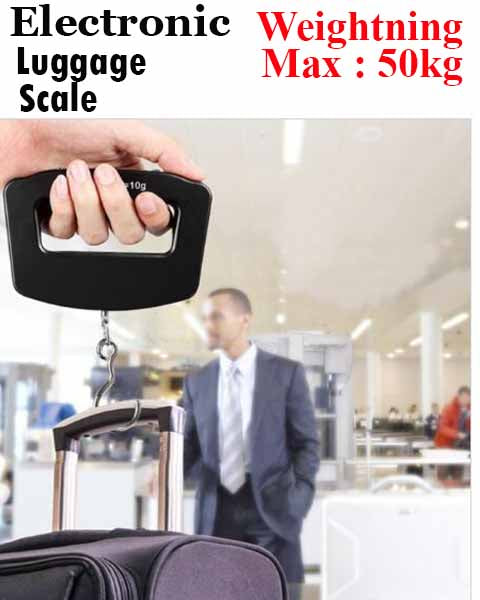 50kg x 50g Digital LCD Handheld Luggage Baggage Weight Scale
