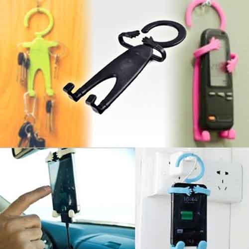 Silicon flexible Phone Holder Multipurpose hanger door stopper key older handphone cover iPhone Samsung S3 S4 S5 Note Xiaomi silicone Blackberry iPad