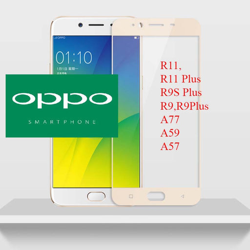 OPPO Collection Gold Tempered Glass