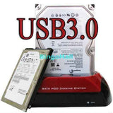 "#D 2.5"" 3.5"" SATA IDE Hard Disk Drive HDD Dock Station Clone w/ USB HUB Card reader"