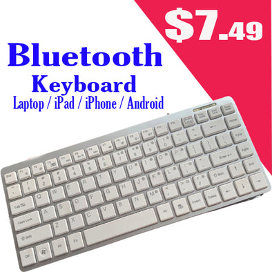 Mini Bluetooth Wireless Keyboard For Apple iPad iPhone 2 3 4 5 Laptop PC Tablets