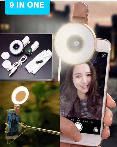 9 in One universal Clip on Camera lens