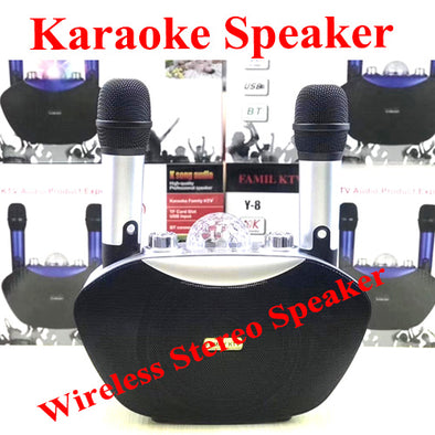 Dual Wireless Bluetooth Speaker Mobile Wireless Karaoke Speaker
