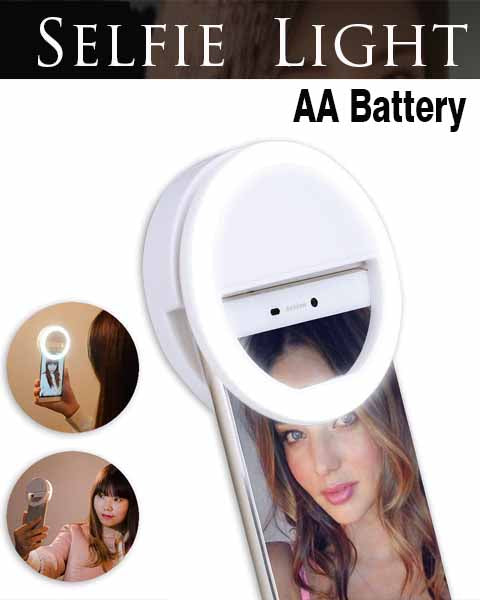 Clip On Selfie Ring Light AA Battery