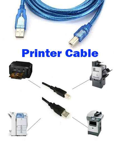 USB 2.0 M/M Printer Print HighSpeed Cable Cord Plug Scanner