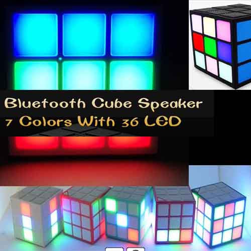 Bluetooth Cube Speaker with LED
