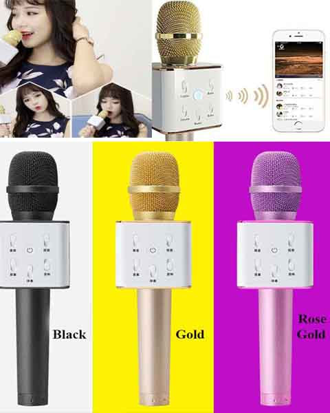 Q7 Karaoke KTV MIC Portable Bluetooth Speaker Microphone