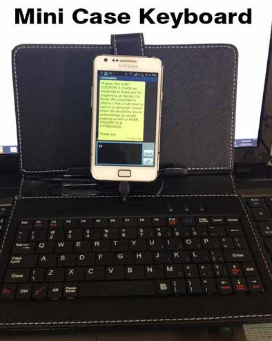 7 inch Mini keyboard Cover USB Micro for Smartphone