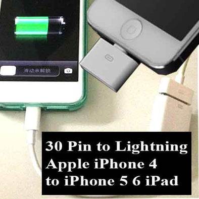 Lightning  30 pin Adapter Charger for Apple iPhone 4 to iPhone 5 6 ipad